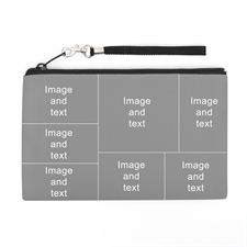 Personalized Facebook 7 Collage (2 Side Same Image) Wristlet Bag (Medium Inch)