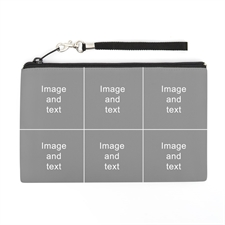 Personalized Instagram Six Collage (2 Side Same Image) Wristlet Bag (5x8)