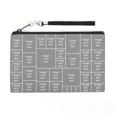 Personalized Instagram 34 Collage (2 Side Different Image) Wristlet Bag (Medium Inch)