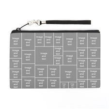 Personalized Instagram 34 Collage (2 Side Same Image) Wristlet Bag (Medium Inch)