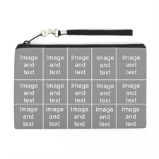 Personalized Instagram 15 Collage (2 Side Same Image) Wristlet Bag (Medium Inch)