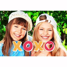 Xoxo Hearts Animated Photo Card Personalized Animated Invitation Card (4 X 6)