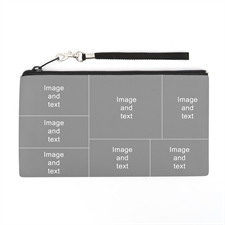 Personalized Facebook Seven Collage 5.5X10 (2 Side Different Image) Clutch Bag (5.5X10 Inch)