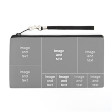 Personalized Instagram Eight Collage 5.5X10 (2 Side Different Image) Clutch Bag (5.5X10 Inch)