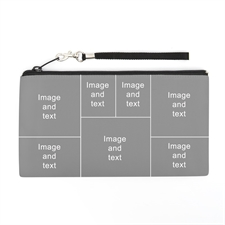 Personalized Instagram Seven Collage 5.5X10 (2 Side Same Image) Clutch Bag