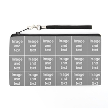 Personalized Instagram 18 Collage 5.5X10 (2 Side Same Image) Clutch Bag (5.5X10 Inch)