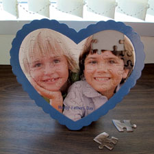 We Heart Grandpa Personalized Heart Shape Puzzle