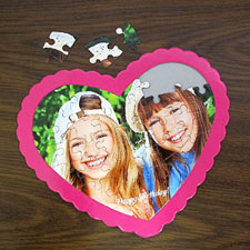 Happy Birthday Personalized Heart Shape Puzzle