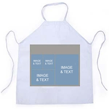 Four Collage Silver Grey Photo Adult Apron