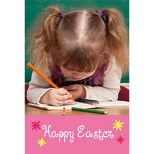 Happy Easter Animated Photo Card Personalized Animated Invitation Card (4 X 6)