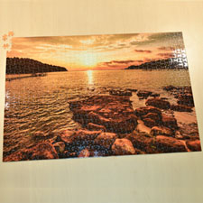 "19.75""x28"" Puzzle 1,000 Piece – Background Color and Text"