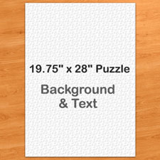 "19.75""x28"" Portrait Puzzle 1,000 Piece – Background Color and Text"