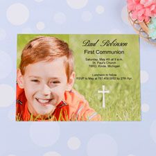 Print Your Own Holy Date  Communication Photo Invitation Cards