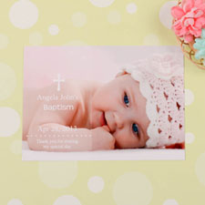Print Your Own Memorable Moment Baptism Photo Invitation Cards