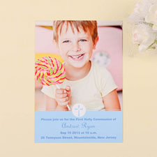 Print Your Own Christening Cross – Pool Communication Photo Invitation Cards