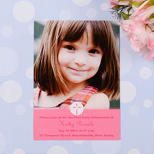 Print Your Own Christening Cross – Rose Communication Photo Invitation Cards
