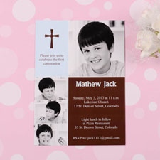 Print Your Own Elegant Cross  Mermaid Collage Communication Invitation Cards