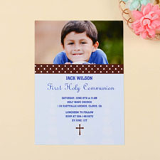 Print Your Own Sweet Polka Dots – Coast Communication Photo Invitation Cards