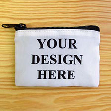 Custom Imprint Full Color Coin Purse (Same Image), Black Zipper