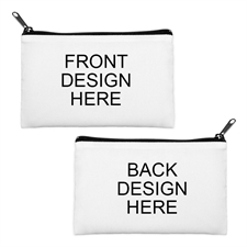 Custom Full Color Print Medium (2 Side Different Image) Makeup Bag (5 X 8 Inch)