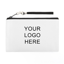 Personalized Custom Imprint Promotional (2 Side Different Image) Wristlet Bag (Medium Inch)