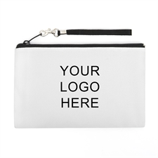 Personalized Custom Imprint Promotional (2 Side Same Image) Wristlet Bag (Medium Inch)
