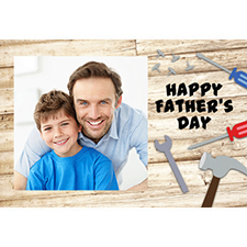 Personalized Dad Woodwork Lenticular Greeting Card