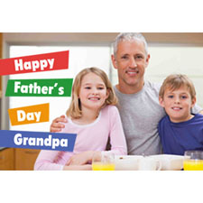 Grandpa Is Great Personalized Animated Invitation Card (4 X 6)
