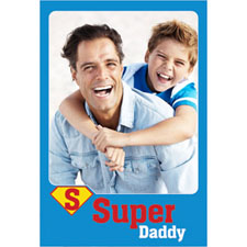 Personalized Superhero Super Daddy Lenticular Greeting Card