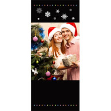 Personalized Falling Snow Memories Lenticular Bookmark