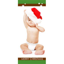 Personalized Stars And Merry Christmas Lenticular Bookmark