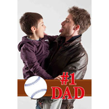 #1 Dad Personalized Animated Invitation Card (4 X 6)
