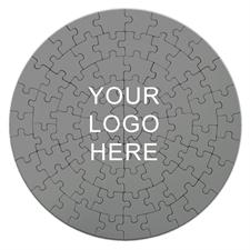 Custom Printed Round Puzzle 7 1/4