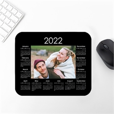 Custom Print Photo Mouse Pad 2019 Calendar, Black