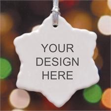 Personalized Custom Ceramic Snowflake Ornament