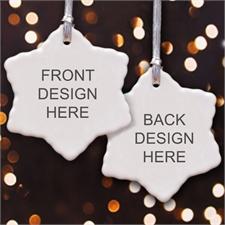 Personalized Custom 2 Side Snowflake Ornament