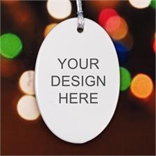 Personalized Custom Ceramic Oval Ornaments