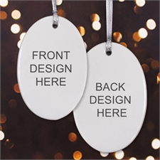 Personalized Custom 2 Side Oval Ornaments
