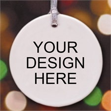 Custom Round Ceramic Ornament
