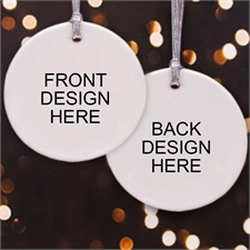 Custom Front & Back Round Ornament