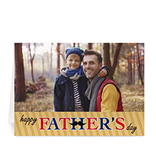 Custom Printed Mustache Dad Greeting Card