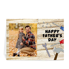 Custom Printed Dad Woodwork Greeting Card