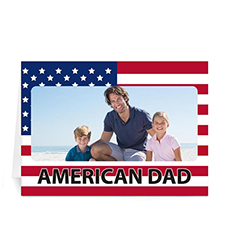 Custom Printed All Americans Father's Day Frame Greeting Card
