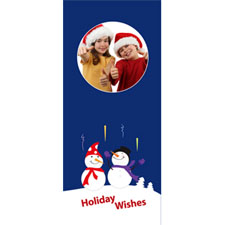 Personalized Retro Snowman Lenticular Bookmark