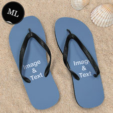 Personalized Flip Flops ONE IMAGE, Men Large