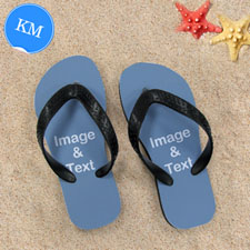 Personalized Flip Flops ONE IMAGE, Kids Medium