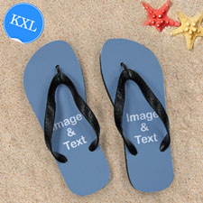 Personalized Flip Flops TWO IMAGES, Kids X-Large
