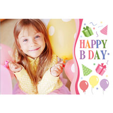 Personalized Happy B Day Girl Lenticular Greeting Card