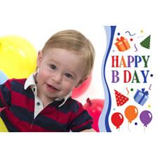Personalized Happy B Day Boy Lenticular Greeting Card