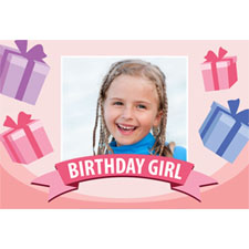 Personalized Birthday Girl Lenticular Greeting Card